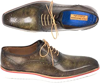 Paul Parkman Smart Casual Shoes For Men Army Green (ID#184SNK-GRN)