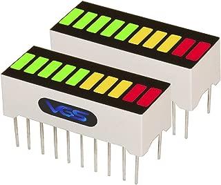 New 2pcs. 10 Segment LED Bar Graph Display 3 Colors(2xSuper Red+3xYellow+5xSuper Green) Single led bar Graph(DIY or Arduino)