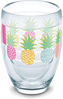Tervis 1267734 Simply Southern Colorful Pineapples 9 oz Stemless Wine Glass, Clear