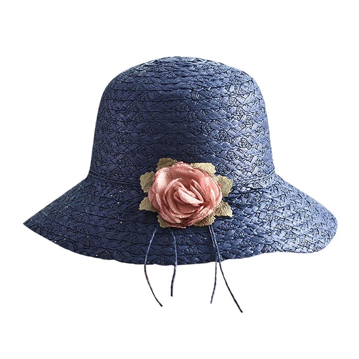 名前理想的親指帽子 レディース 漁師の帽子 uv帽 日焼け防止 UVカット 紫外線対策 軽量 uvカット帽子 春夏 可愛い 小顔効果 日よけ 折りたたみ ハット つば広 帽子 サイズ調整 テープ キャップ ハット レディース サンバイザー ROSE ROMAN