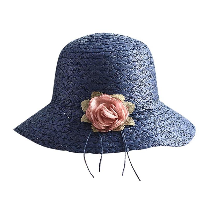 普通の武器忙しい帽子 レディース 漁師の帽子 uv帽 日焼け防止 UVカット 紫外線対策 軽量 uvカット帽子 春夏 可愛い 小顔効果 日よけ 折りたたみ ハット つば広 帽子 サイズ調整 テープ キャップ ハット レディース サンバイザー ROSE ROMAN