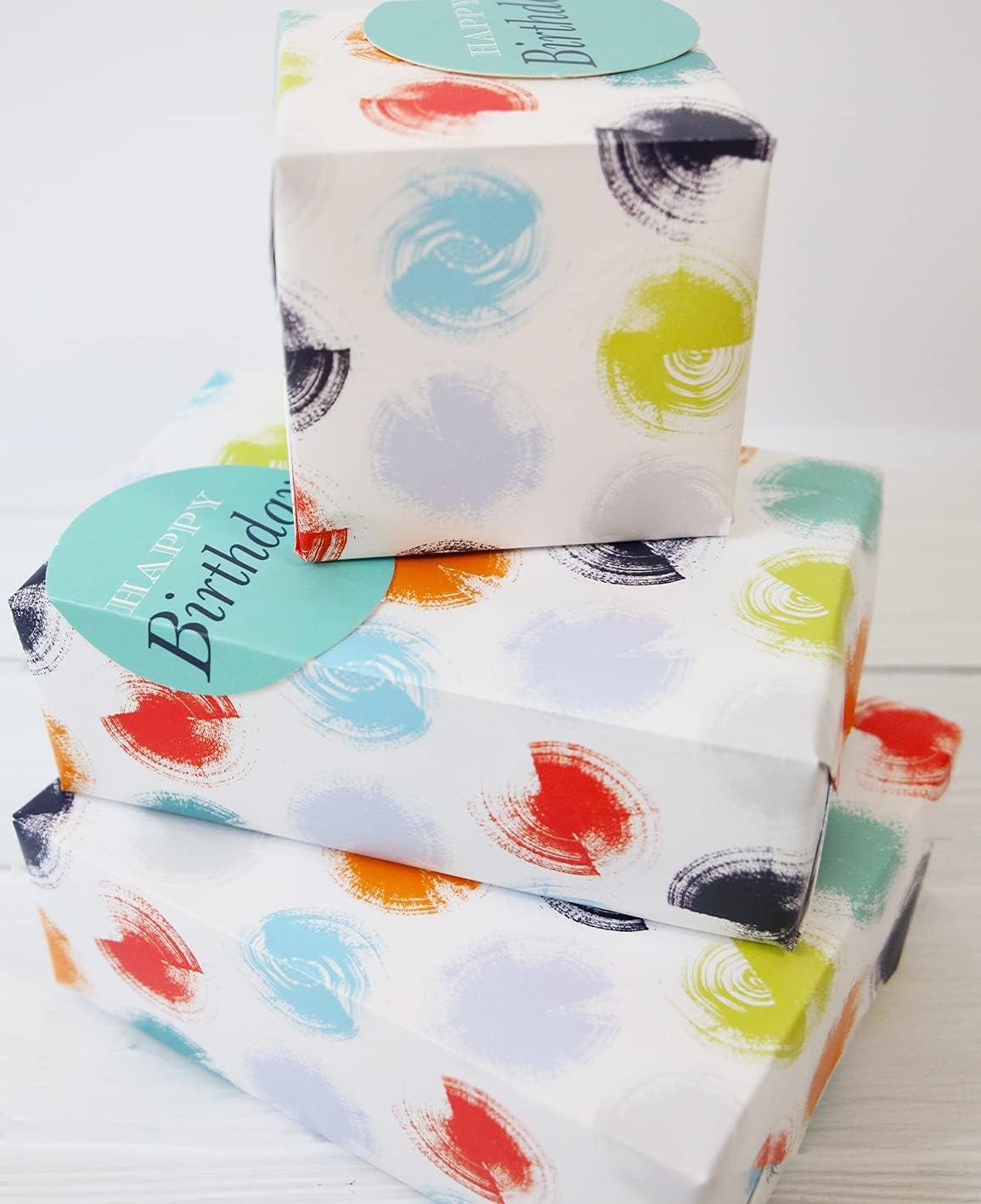 Abacus 12371A - Paquete de papel de regalo con 2 hojas y 2 etiquetas, sin plástico