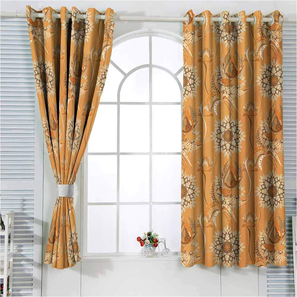Tan Super sale and Brown Blackout Patio Curtain Ottom Panel Ranking TOP7 Door Ornamental