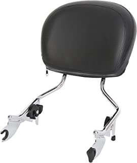 Detachable Sissy Bar with Backrest Pad Chrome for Harley Touring 09-Up 16 17 18(NEED DOCKING HARDWARE)