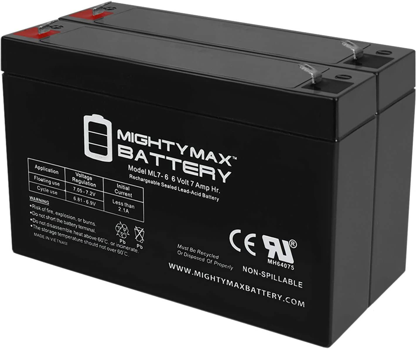 Mighty Online limited product Max Battery 6V 7Ah At the price of surprise 20 for Simplex SLA Replacement