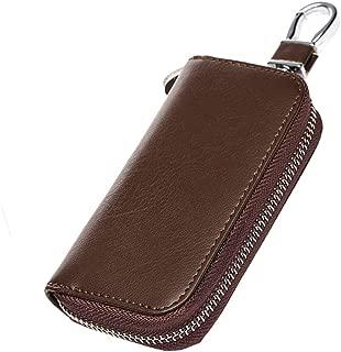 MagiDeal Universal Real Leather Car Key Holder Wallets Key Case Bag Zipper Men/Women