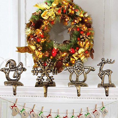 PandaHug Gancio Natalizio in Ferro Ganci Holder Natale Decorazione Deer Snowman Sata Snowflake Home Decorazione