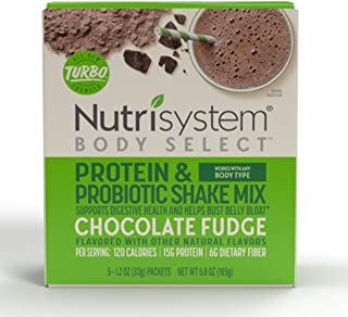 Sponsored Ad - Nutrisystem® Body Select™ Chocolate Fudge Protein & Probiotic Shakes, 20ct, Delicious Shakes that Bust Bell...