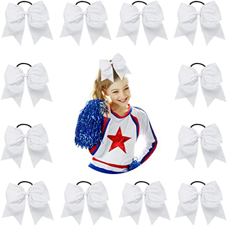 "USA 1 JUMBO 6/"" Cheer Bow Clip Holder U PICK Big Girls Large Hair Bows softball"