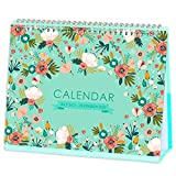 Desk Calendar - Standing Flip Desktop Calendar, Generous Memo Lined Pages with Thick Paper, July 2021 - Dec 2022, 10' x 8.3', Stand up Desk Calendar with Strong Twin-Wire Binding