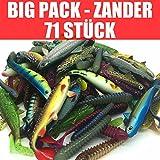 Jackson Gummifisch Kunstköder XL Set Profi - Zander Angeln 10-13cm - 71 STÜCK