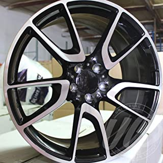 NEW 19 Inch x 8.5 AMG V Spoke Style Staggered Wheels Rims 5 lug Black Machine Face compatible with MERCEDES BENZ Set of 4