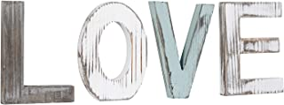 Liry Products Rustic Wood Block Love Sign Cutout Letters Distressed Wood Multicolor Word Freestanding Alphabets Decoration Home Living Room Kitchen Tabletop Desk Book Shelf Cabinet Mantel