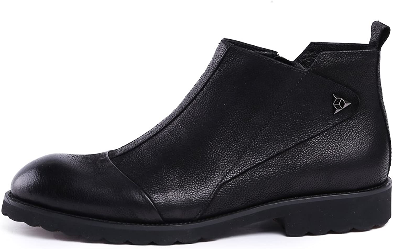 MedzRE Men's Stylish Leather Dress Oxford Short Ankle Boots