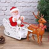 Juguete de Trineo de Santa Claus, Interesante Alce tirando de Santa Claus, Precioso Alce tirando de Trineo de Santa Claus, Festivales de Regalos para niños