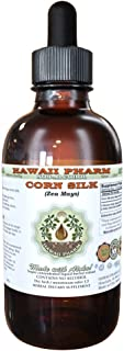 Corn Silk Alcohol-FREE Liquid Extract, Organic Corn Silk (Zea Mays) Dried Silk Glycerite Hawaii Pharm Natural Herbal Supplement 2 oz