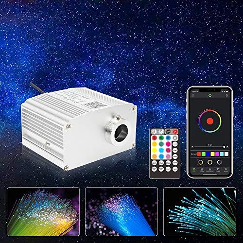 CHINLY Bluetooth 10W RGBW Scintillio LED Fibra Ottica Star Plafoniere Kit APP/Telecomando 200 pz*0.75mm*2m per Casa/Auto
