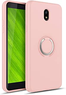 Phonelicious AT&T Radiant Core, Cricket Icon Smartphone Case Dual Layer Hard Back Cover with 360 Degree Rotation Finger Ring Grip Kickstand Built in Magnetic Car Mount Support (Baby Pink)