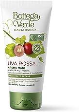 Bottega Verde, Uva Rossa - Crema per le mani, antieta nutriente, con estratto di Uva Rossa di Tenuta Massaini (75 ml) - pelli molto secche