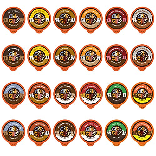 Crazy Cups Flavored Coffee Pods Variety Pack - Coffee Flavors and Chocolate Coffee Flavors for The Keurig k Cups Machine, Recyclable Single Serve Cups, 48 Count
