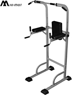 Heavy Duty Power Tower Pull Up Bar, Dip Stands Multi-Function Chin Up Bar Dip Station Strength Training Equipment Adjustable Height