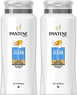 Pantene Pro-V Haircare - Classic Clean - 2 in 1 Shampoo & Conditioner - Net Wt. 20.1 FL OZ (595 mL) Per Bottle - Pack of 2...