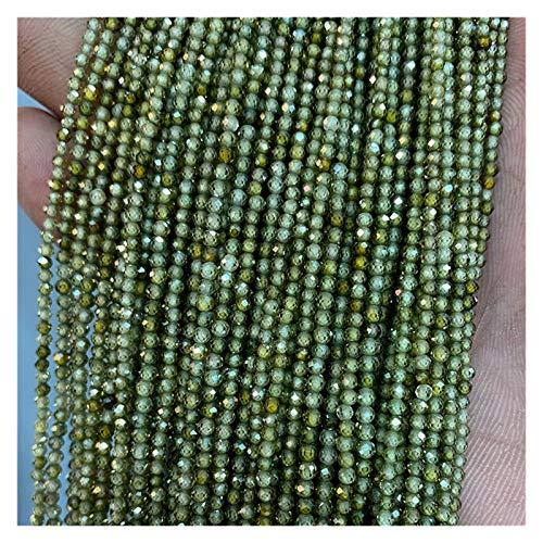 Delawen Venta al por Mayor 2 3 4 mm Piscinas pequeñas Perlas Brillantes Pequeño Piedra Piedra Piedra Piedra para la joyería Que Hace Beadwork DIY Pulsera Collar (Color : Green Zircon, Tamaño : 2mm)