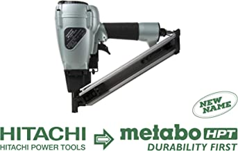 Metabo HPT NR38AK Positive Placement Metal Connector Pneumatic Nailer, Strap-Tite Fastening System, Accepts 1-1/2