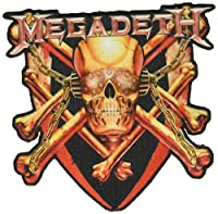 """MEGADETH Killing Is My Business, Officially Licensed Classic Rock Artwork, Iron-On/Sew-On, 4"""" x 4"""" Embroidered PATCH"""