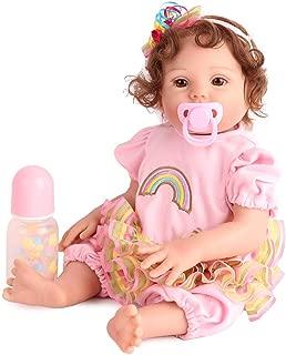 CHAREX Reborn Baby Dolls Silicone Full Body, 17 inch Girl Doll Lifelike Realistic Bath Toy Birthday Gift Set