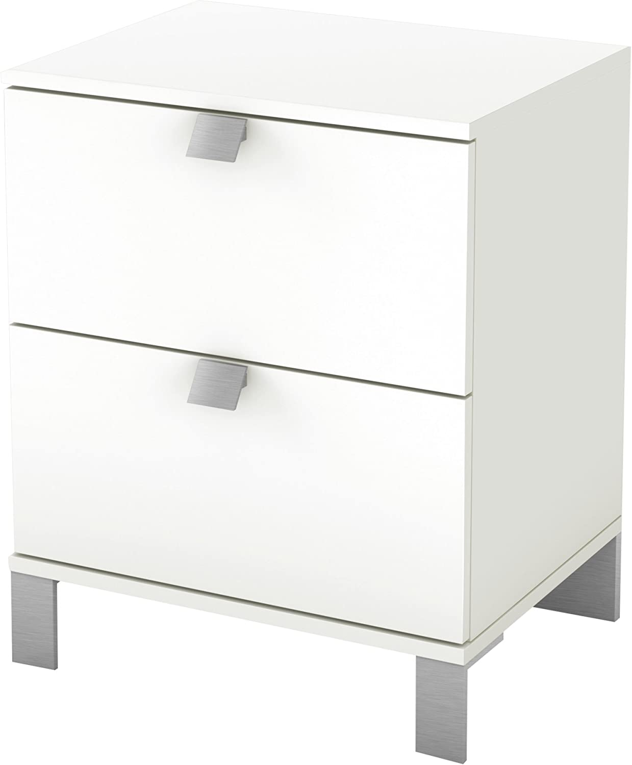 South Shore Furniture Spark Collection, Night Stand, Pure White