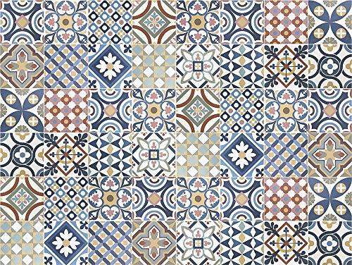 VINILIKO Gimaraes Vinyl-Teppich, Mehrfarbig, 100 x 133 cm