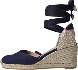 Castaner Womens Carina Canvas Wedge Espadrille Shoes 6CM