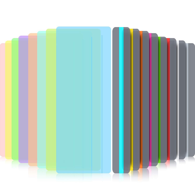 16 Piezas de Lectura Guiada Resaltado Reglas Superposición de Color Reglas de Seguimiento de Lectura para Dislexia, Tdah y para Reducir El Estrés Visual (8 Tamaño Estándar y 8 Tamaño Grande): Amazon.es: