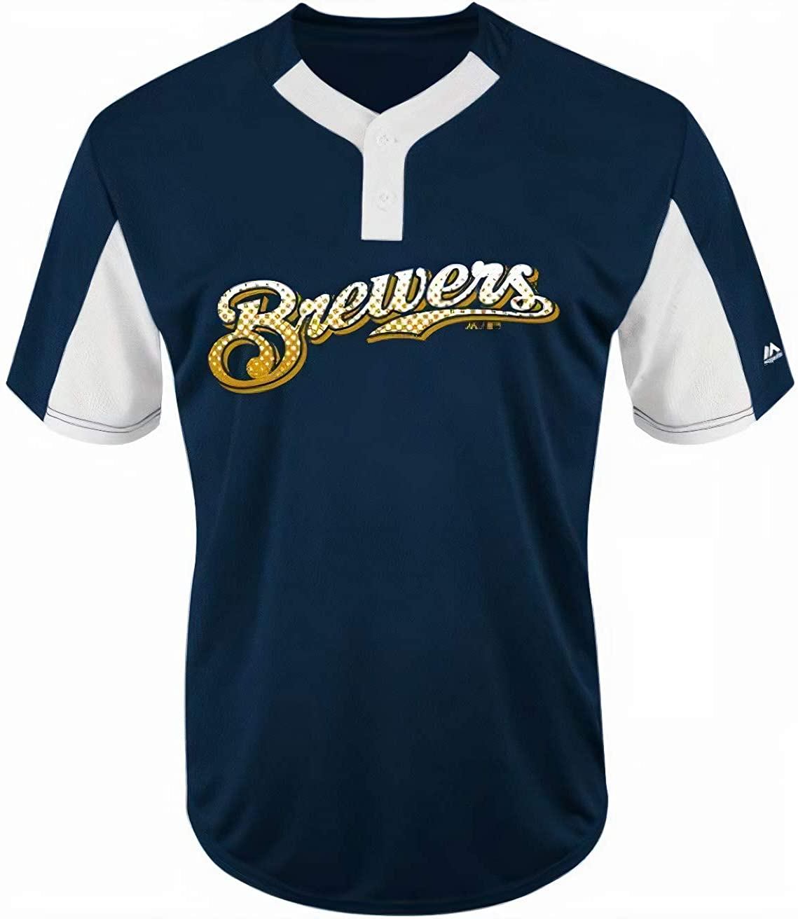 Majestic Milwaukee Brewers Manufacturer regenerated product Premier Eagle 2-Butto Great interest Base Men's Cool