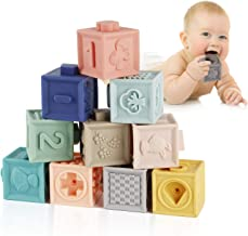 Mini Tudou Baby Blocks Soft Building Blocks Baby Toys Teethers Toy Educational Squeeze..