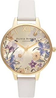 Olivia Burton Best In Show Quartz Movement Champagne Gold and Floral Dial Ladies Watch OB16EG121