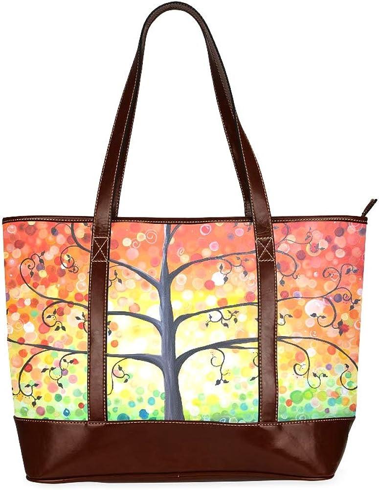 Paiting Vintage Tree Of Life Online limited product Handbag Shoulder Max 52% OFF Ladies La Bag Bags