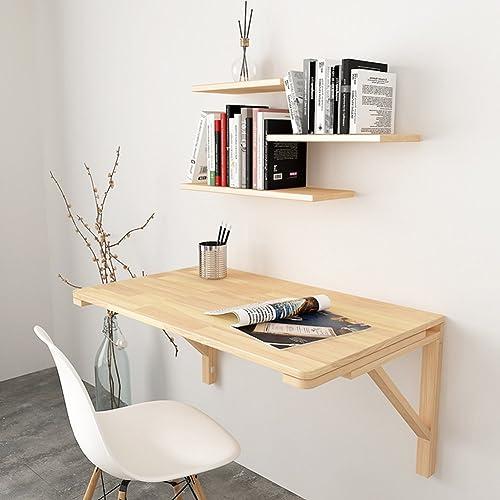 WNX Klapp-Wand-Drop-Blatt-Tisch Computer Schreibtisch Kinder Tisch Schreibtisch Küche Esstisch Tabelle Tisch Haushalts Klapptisch (Größe   80  40cm)