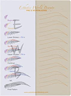 Microblading No Ink Practice Skin / 5 PCS/Free Eyebrow Guide/Pattern ''Duo Grass''