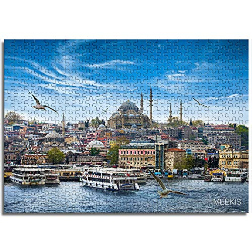 BOVIENCHE Jigsaw Puzzle 1000 Piece Wooden Turkish Architecture Children's Year Unique Gift Puzzle Casual Classic Modern Home Decoration (75 X 50Cm)