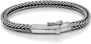 Slithering Silver 925 Sterling Silver Men Thin Elegant Bracelet