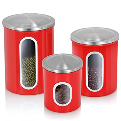 Airtight Canister Set of 3, Magdisc Nested Cani...