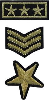 TENNER.LONDON Juego de 3 piezas de tela para planchar en el ejército, lavable a máquina, transferencia militar