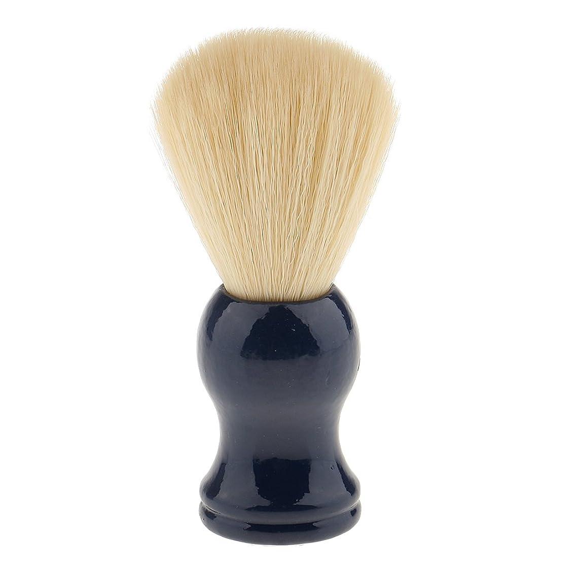 機械的に肯定的バーマドBaoblaze ナイロン ひげブラシ シェービング ブラシ 髭 泡立て 散髪整理  理髪用 サロン 快適 美容院