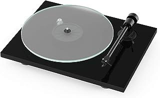 Pro Ject T1 BT, Audiophiler Einstiegs Plattenspieler der neuen Generation mit Bluetooth Sender und eingebautem Phono Preamp (Piano Schwarz)