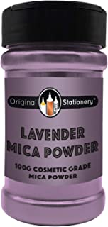 Mica Powder - 3.5 ounces / 100 grams [HUGE x3-5 THE SIZE OF OUR COMPETITORS] Cosmetic Grade – True Colors – Beautiful Mica for Slime, Soap Making, Bath Bombs, Make-up, Nails (Lavender)