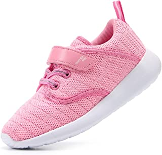EIGHT KM Boys and Girls Toddler Kids Lightweight Breathable Woven Fabric Velcro Sneakers School Shoes 2019 Thanksgiving