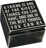 Primitives by Kathy 18194 Hinge Box - A Friend, One Size, Black, White