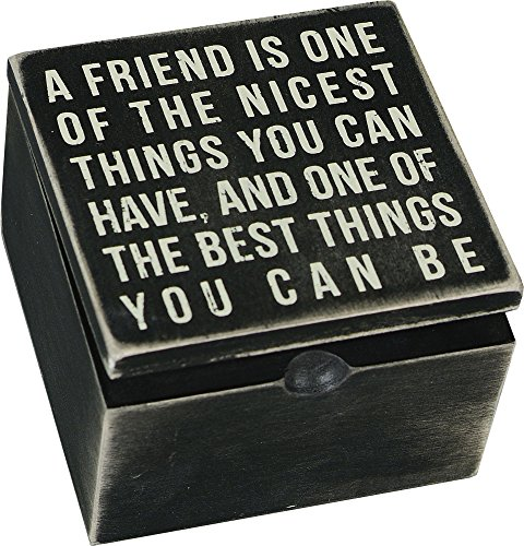 Primitive Friendship Hinge Wood Box